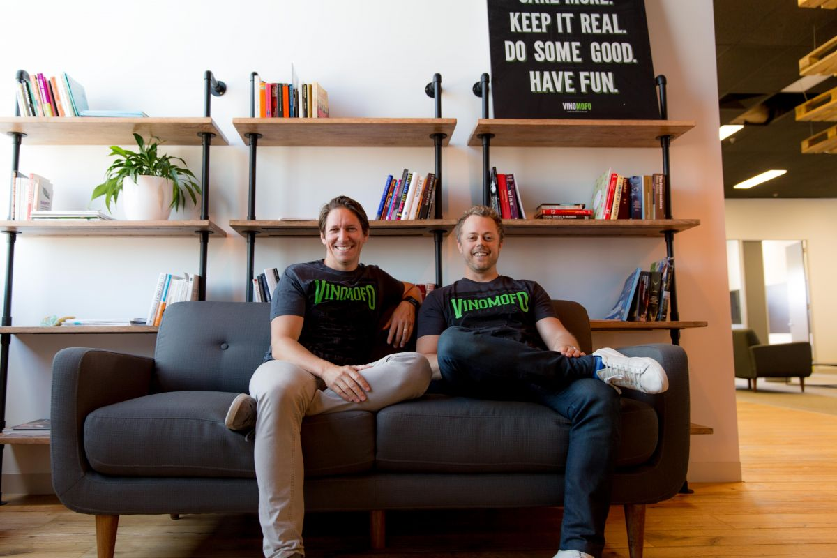 Vinomofo co-founders André Eikmeier and Justin Dry (Image: supplied)