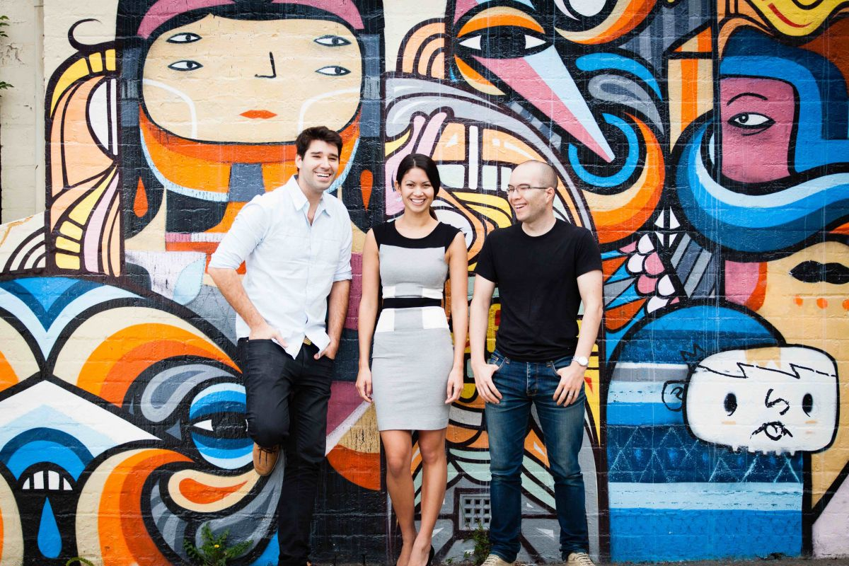 Canva co-founders Cliff Obrecht, Melanie Perkins and Cameron Adams (Image: supplied)