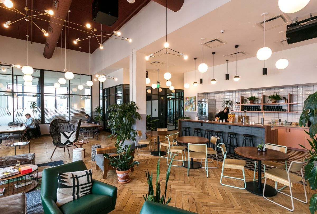 WeWork is known for its modern and creative office designs