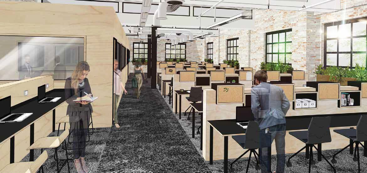 An artist's impression of the open coworking space at The Commons' Sydney site.