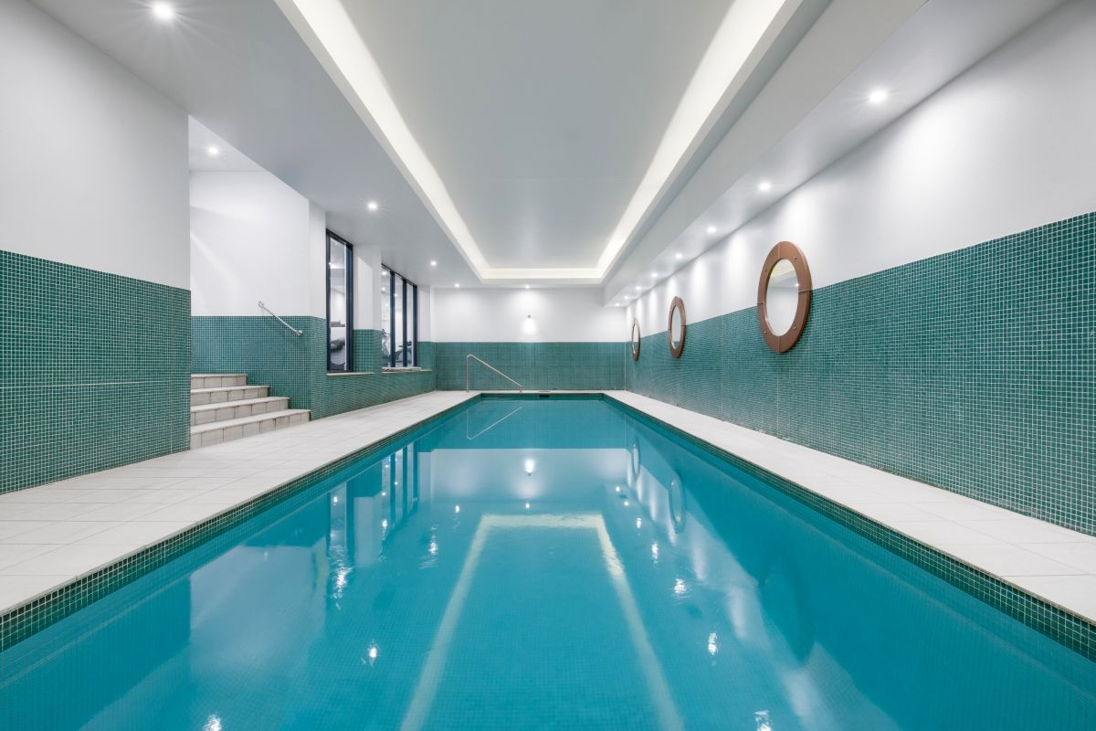 Cool down and take a dip in the new swimming pool.