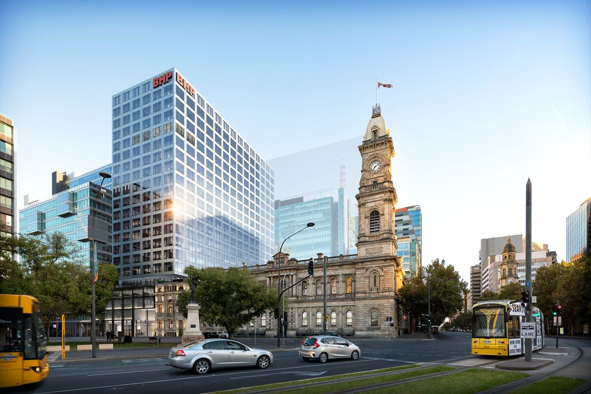 The 19-storey glass tower will stand beside the GPO building.