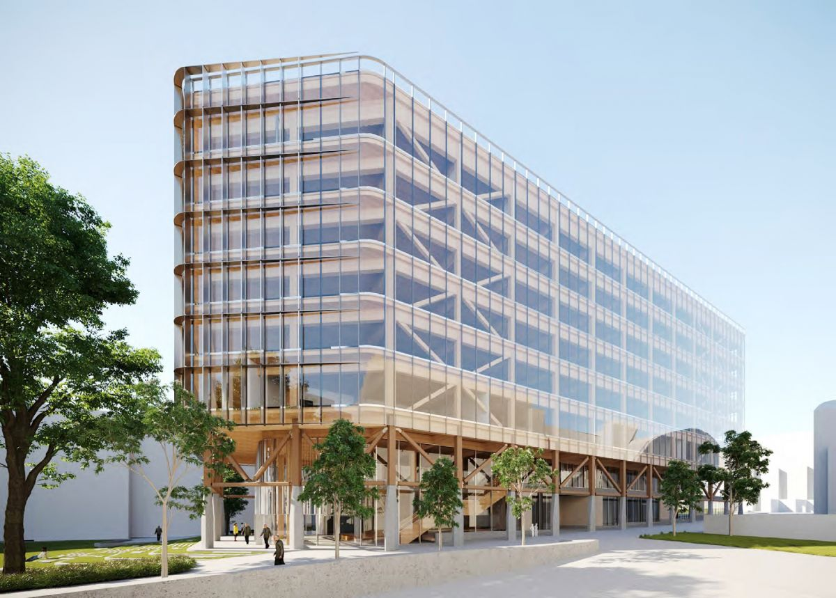The eight-storey timber building will incorporate multiple uses.