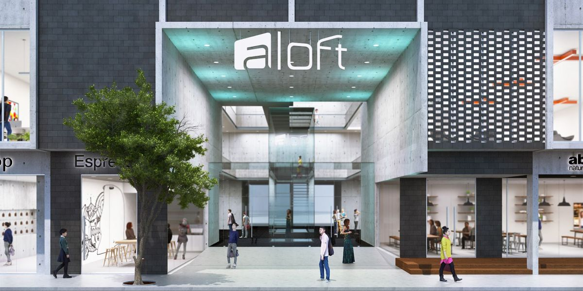 An artist's impression of the Aloft hotel in South Yarra.
