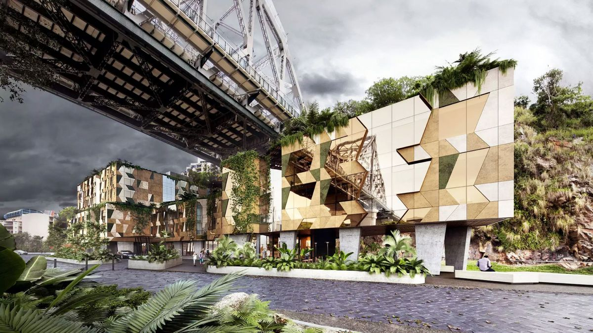 This future hotel in Brisbane will be carved into a cliff.