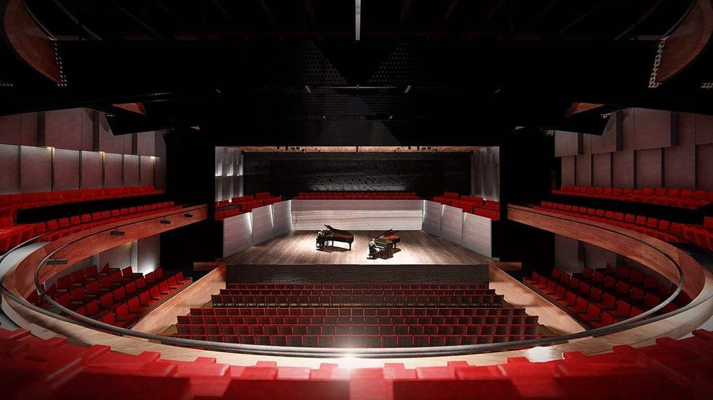 A large theatre with more than 1000 seats will be located below the hotel.