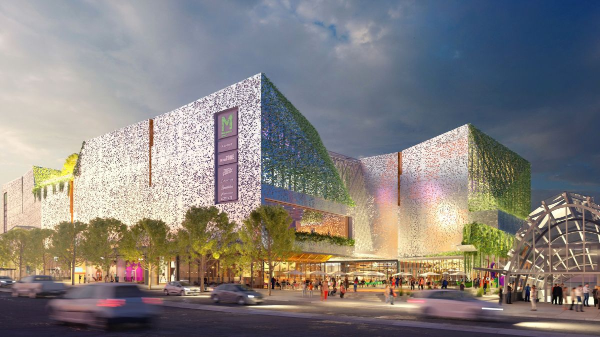 AMP Capital wants to add more than 21,000 sqm to the existing Macquarie Centre. Image: NH Architecture and Hames Sharley