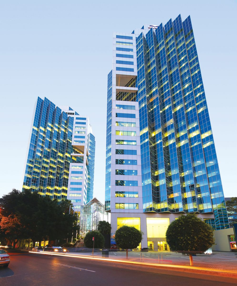 The twin skyscrapers are highly recognisable buildings in the Chatswood CBD. Photo: Knight Frank