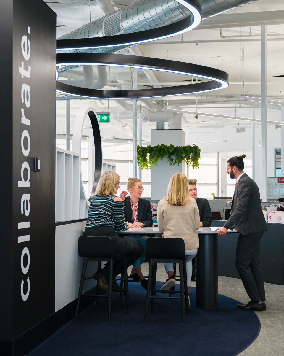 An effective workplace layout and engaging design can do wonders for collaboration. Photo: Supplied