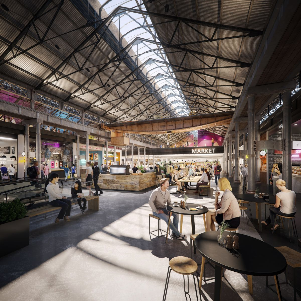 Food markets and artisan retail spaces will make the site a lifestyle precinct. Image: Supplied