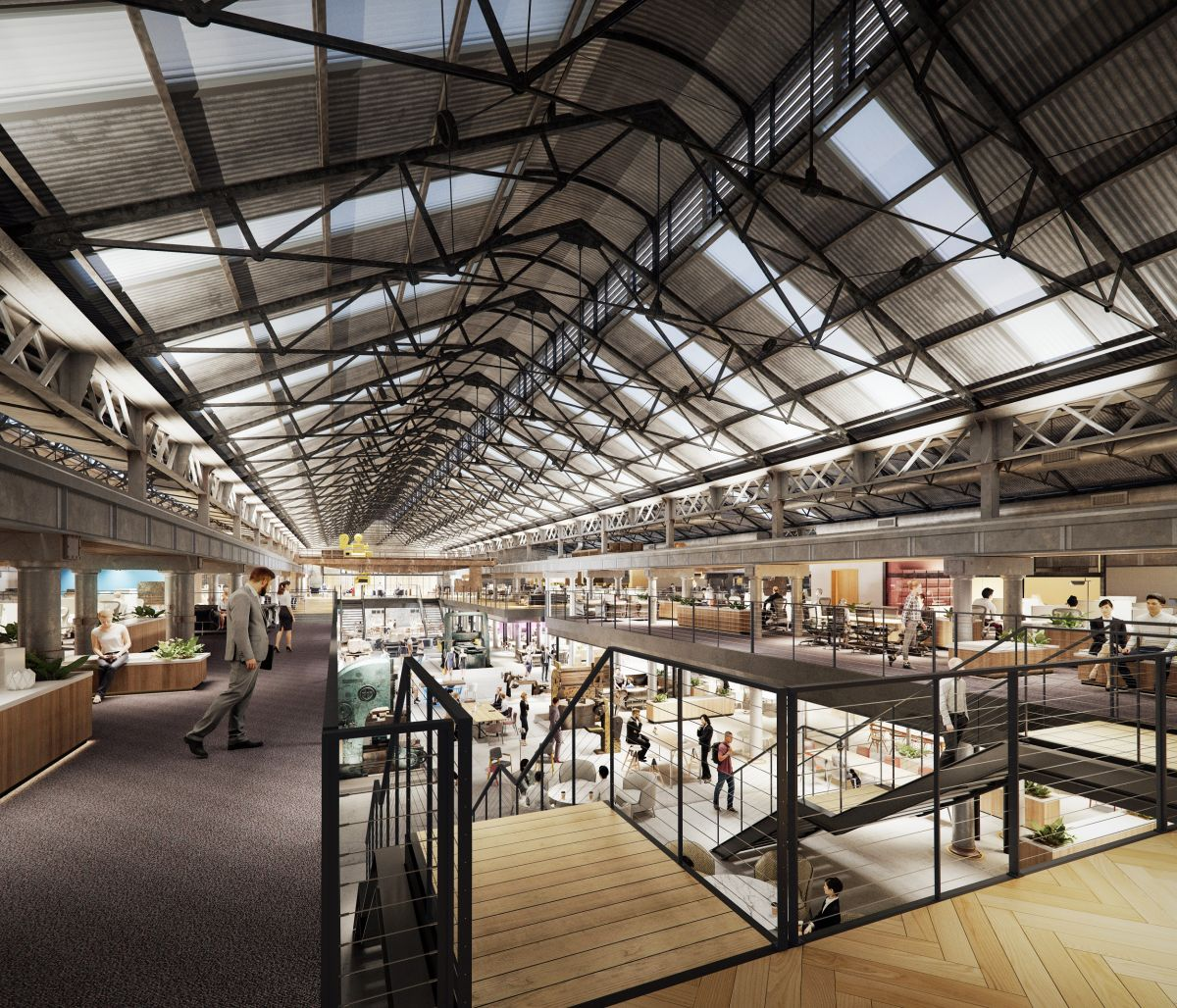 The Locomotive Workshops will include some office space. Image: Supplied