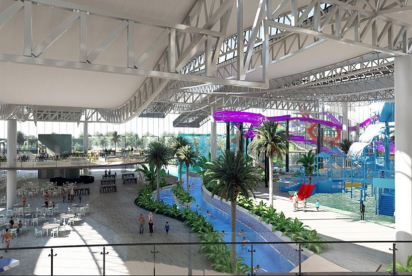 The facility will include the largest indoor water park in the southern hemisphere. Image: Pellicano