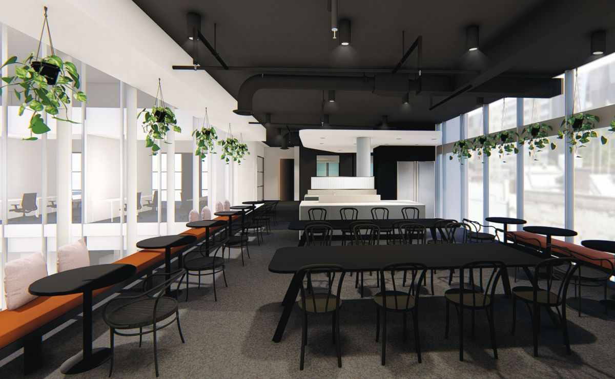 Hub Customs House will have a members' cafe. Image: Supplied
