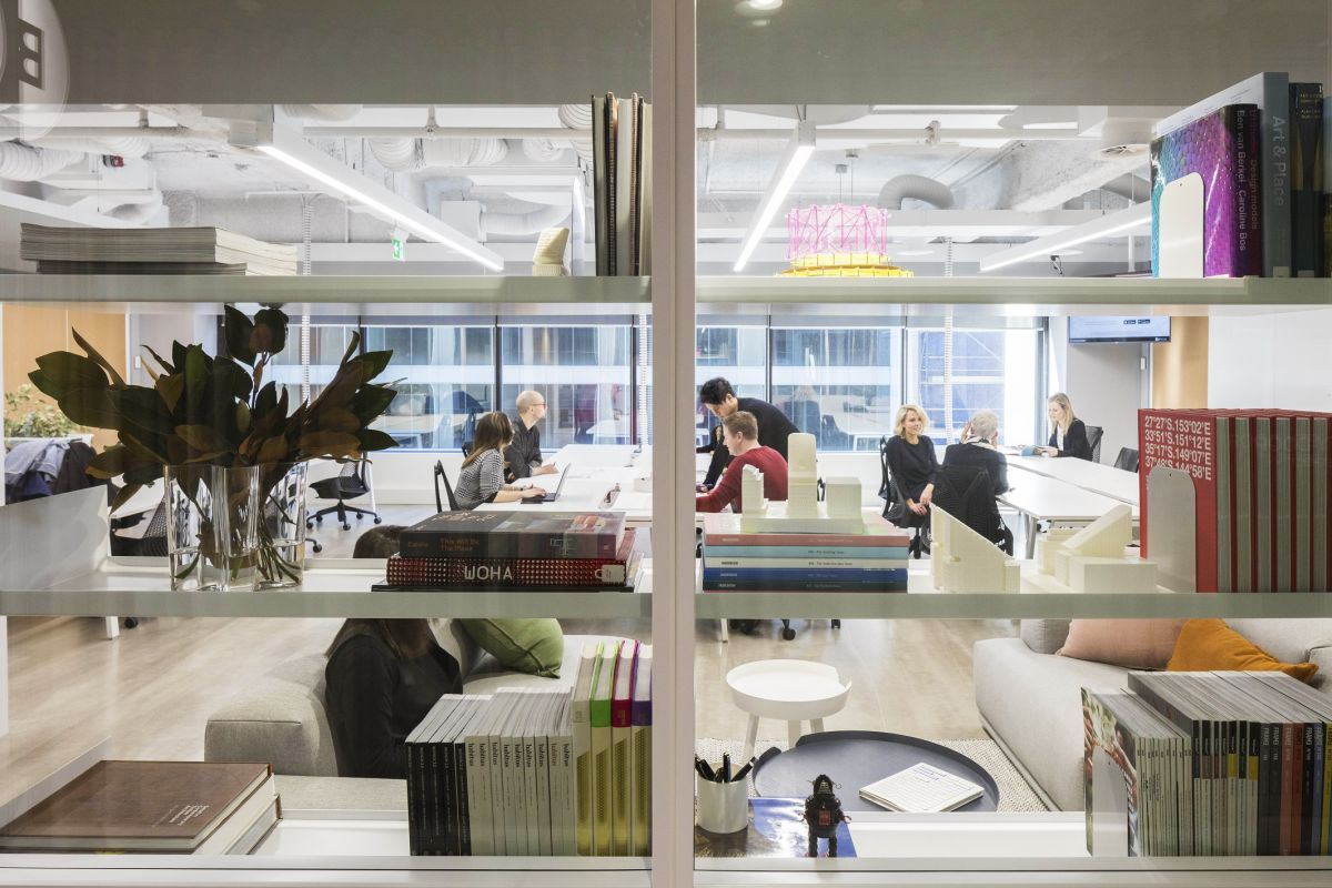 The SuiteX workspace, by BVN, comprises 10 office suites which include private meeting rooms. Photo: Brett Boardman