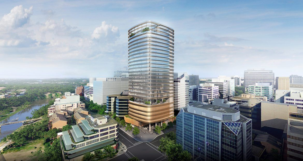The 28-storey 32 Smith development has been pre-committed by anchor tenant QBE. Image: GPT