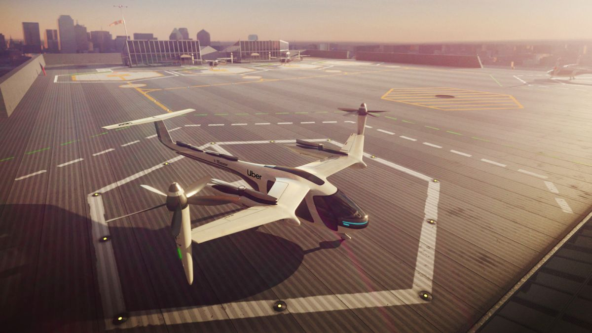 Artist's impression of Uber's electric 'air taxi'. Image: Uber Air