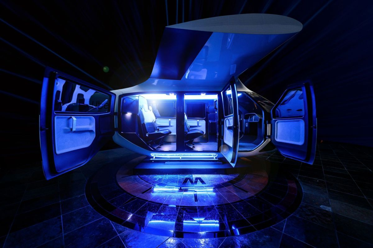 A view inside the cabin of the 'air taxi'. Image: Uber Air