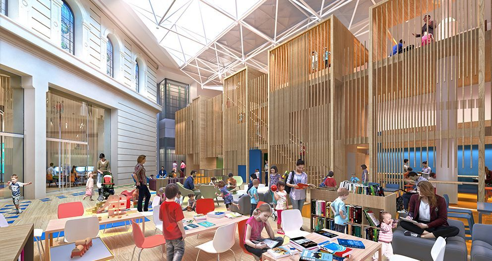 The Children's Quarter evolved from a consultation and co-design process where children expressed their wishes to climb, hide and discover spaces through their drawings of treehouses, castles and spaceships. (Images: Architectus)