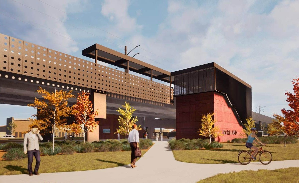 Artist impression of the new Moreland Station. (Image: State Government of Victoria)