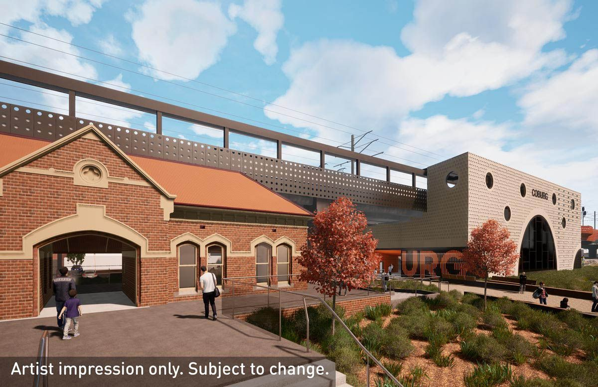 The existing stations will be retained and integrated with the new stations. (Image: State Government of Victoria)