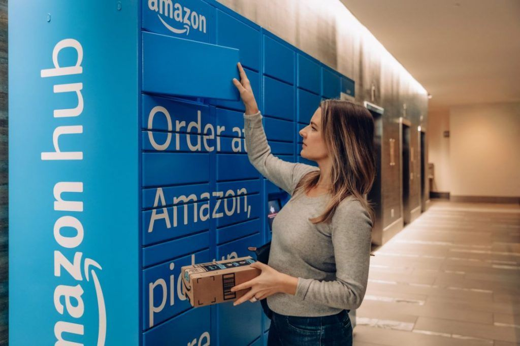 Customers opting for a pickup option can retrieve their deliveries from an Amazon Hub Locker. (Image: Amazon)