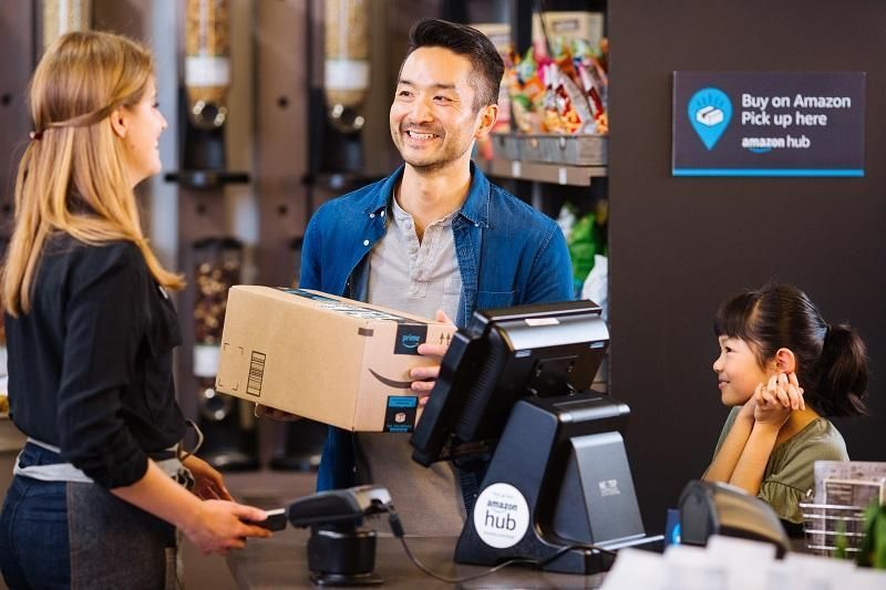 When the parcel arrives, customers will receive an email notification with a unique barcode and six-digit code that they will use to retrieve their parcel either at the Lockers or Counters. (Image: Amazon)