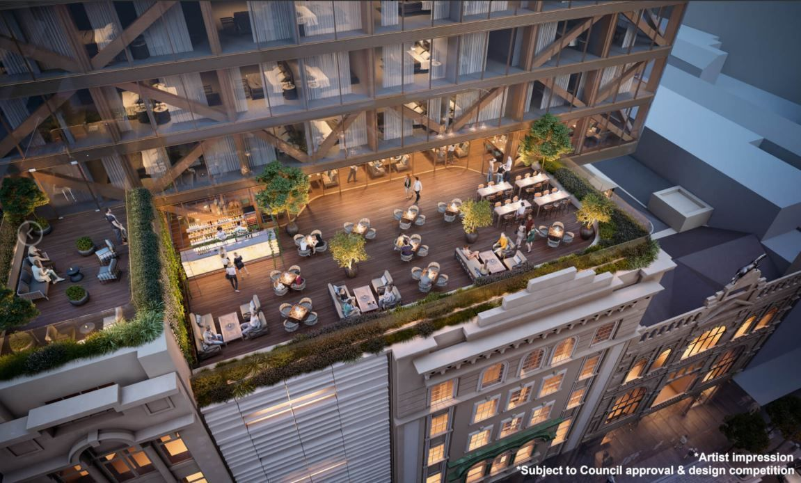 The proposal includes new restaurants and retail. (Image: ICD Property)