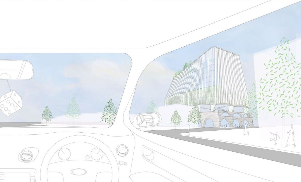 Indicative view of the proposal from a car. (Image: Durbach Block Jaggers)