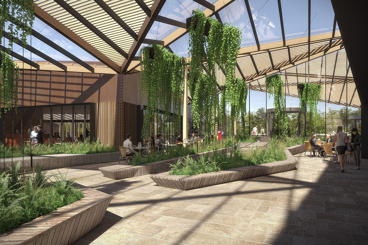 Artist impression of the leisure and dining precinct expansion. (Image: Chadstone)