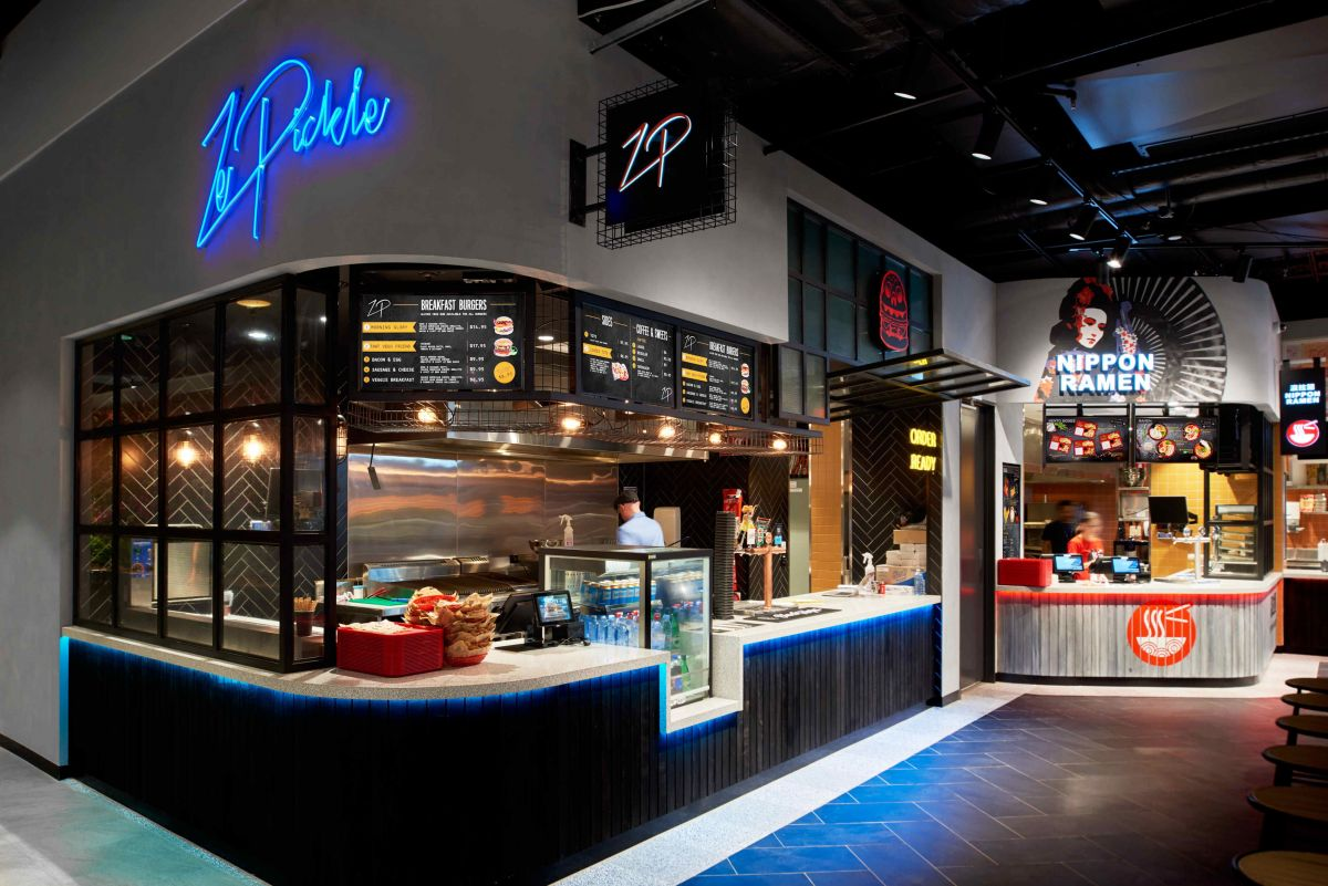 Popular Queensland-based burger bar Ze Pickle serves burgers, which also include plant-based options.