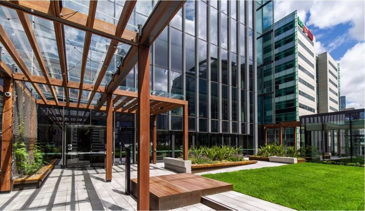The Sky Park forms the entrance to Arup's Melbourne workplace.